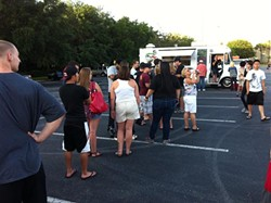 Line for Teehouse Truck at TheDailyCity.com's Food Truck Bazaar #2