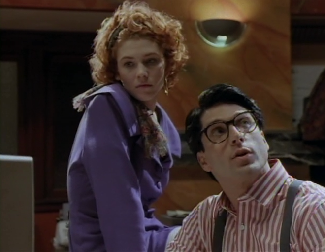 Lana (Stacy Haiduk) and Clark (Gerard Christopher): the less new adventures of Superguy.