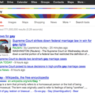 "Look what happens when you Google the word ""gay"" today"