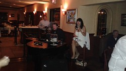 Lorna Lambey and Michael Moore at Rocco's