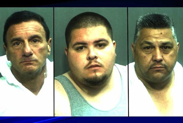 Make your own Mori Tanaka joke: failed ninjas Bower Jr., Contreras and Perez. Photo via Orange County Corrections.