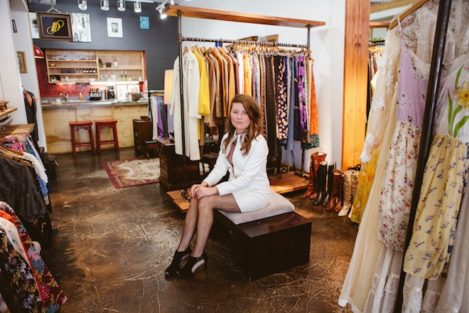 Makenna Whiteside, owner of Postmarket Vintage - PHOTO BY HANNAH GLOGOWER