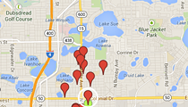 Map of suspected arsons in Orlando's historic districts