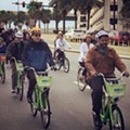 Mayor Buddy Dyer launches Orlando Bike Share (and rides a bike around for photographers)