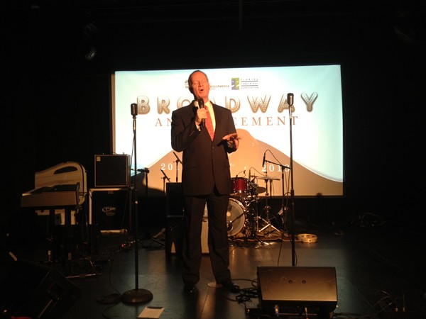 Mayor Buddy Dyer threatens to sing at the Fairwinds Broadway Across America 2012/2013 season announcement (2/13/12)