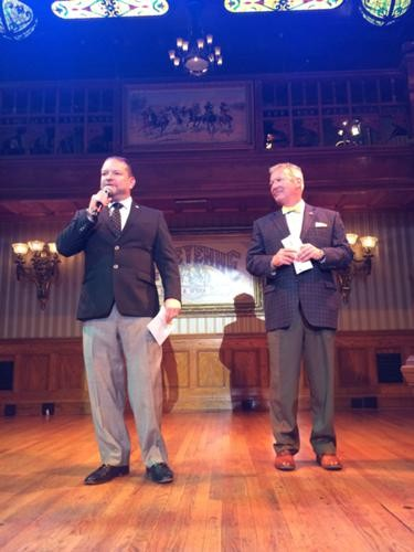 Mayor Dyer and Ron Legler introduce the 2014-2015 FTA Fairwinds Orlando Broadway season at DPAC (photos by Seth Kubersky)