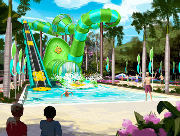 Weekly Calendar One Page : New colossal curl flume ride coming to adventure island in