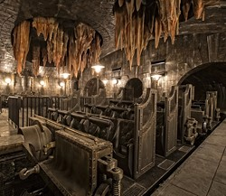 Newly released concept art of the vehicles for Universal's new Harry Potter and the Escape from Gringotts ride (image courtesy Universal Orlando)