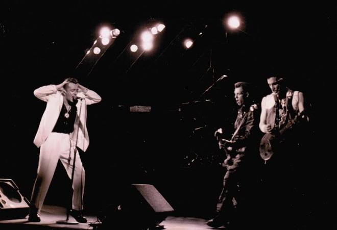 The Clash at Orlando Jai Alai, 1984 - IMAGE VIA SPIKE WEISER ON ORLANDO MUSIC HISTORY