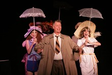 Not so Scary Tactics: (l-r) Jenn Warren, John Graham and Andrea Stack star in Halloween: The Musical
