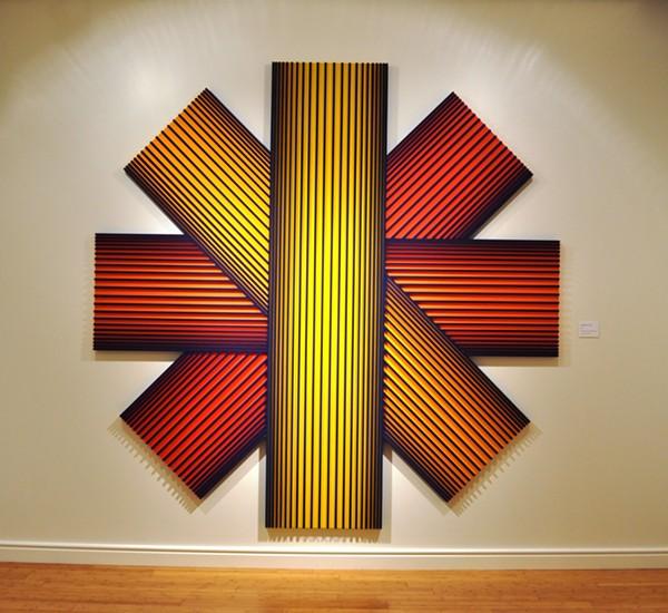 Op Art pioneer Richard Anuszkiewicz\'s dancing colors are like Red ...