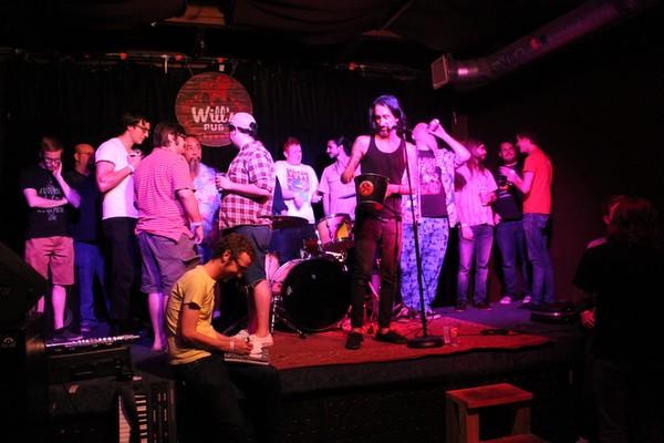 Phil Longo's Hat Trick Band Bingo musical skills challenge at Will's Pub (photo by Ashley Belanger)