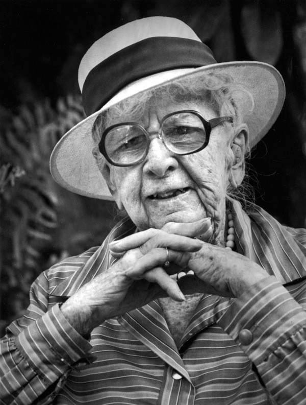 Photo by Jimm Roberts, Marjory Stoneman Douglas, Coconut Grove, 1986, silver gelatin print, collection of the artist