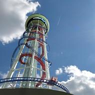 Take a virtual ride on Skyscraper, the world's tallest roller coaster