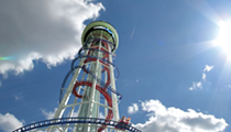 Take a virtual ride on Skyscraper, the world's tallest roller coaster