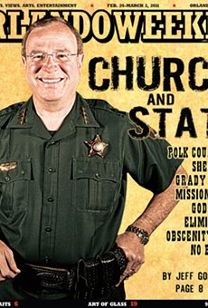 "Polk County Sheriff Grady Judd sued by atheist activist citing ""pervasive religiosity"""
