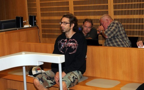 Randy Blythe in court (photo from Blesk.cz)