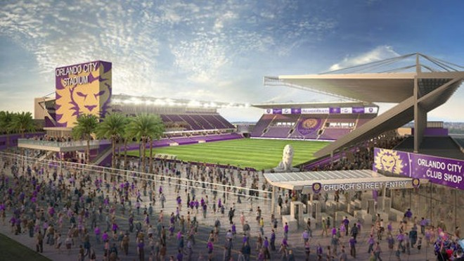 Rendering of the Orlando City Soccer Club's new Orlando stadium - ORLANDO CITY SOCCER CLUB