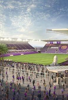 Rendering of the Orlando City Soccer Club's new Orlando stadium