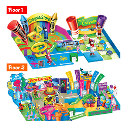 Renderings of some of the offerings at the Crayola Experience in Easton, Pa., via the Crayola company's website.