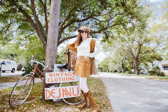 Robin Krentcil, owner of Déjà Vu Vintage Clothing & Accessories - HANNAH GLOGOWER