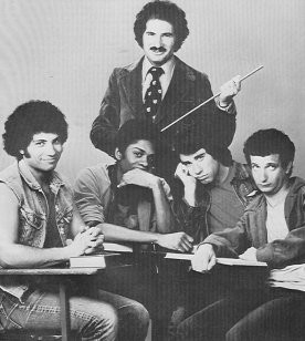 Ron Palillo, far right, with the cast of Welcome Back Kotter