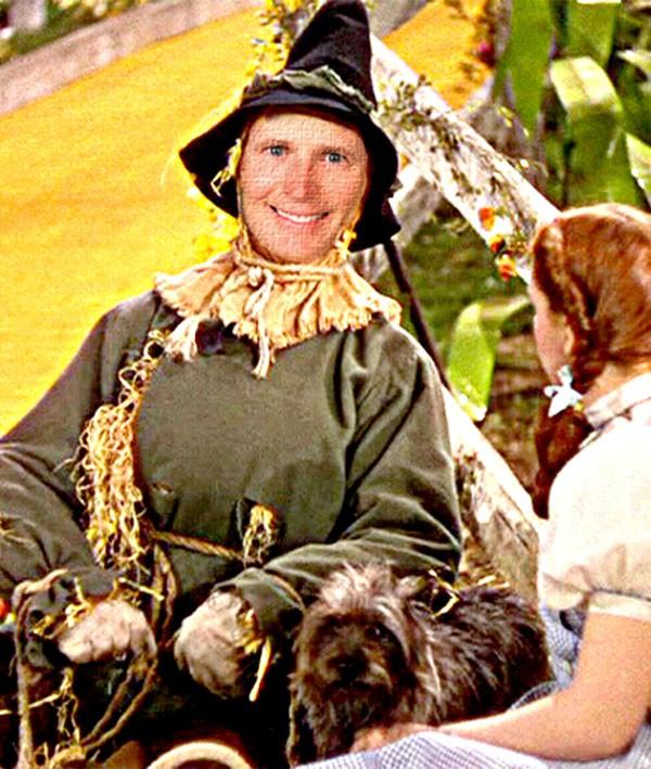 scared crow: Gov.-elect Rick Scott falls on the Republican tracks
