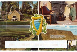 Scenes of Irish life circa 1947 as depicted on the mailing. Photo via Peabody Auditorium.