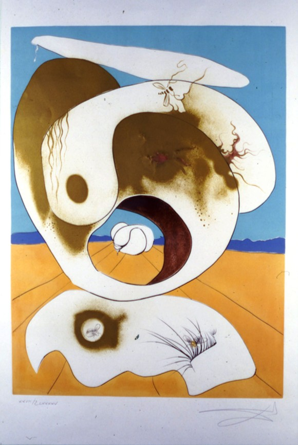 """""""Planetary and Scatologic Vision,"""" from the Conquest of Cosmos series, by Salvador Dali. © Salvador Dalí, Fundació Gala-Salvador Dalí, Artists Rights Society (ARS), New York"""