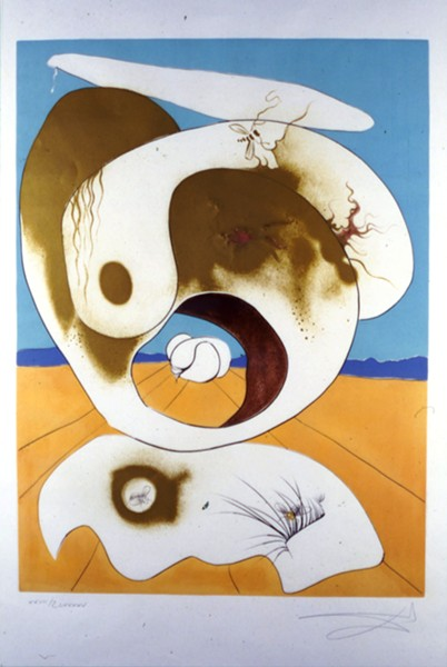"""Planetary and Scatologic Vision,"" from the Conquest of Cosmos series, by Salvador Dali. © Salvador Dalí, Fundació Gala-Salvador Dalí, Artists Rights Society (ARS), New York"