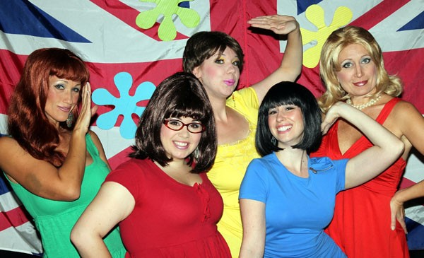 She's not heavy: (from left) Sarah-Lee Dobbs, Kate Zaloumes, Candace Neal, Natalie Cordone and Heather Alexander play five young women coming of age in London in Shout! the Mod Musical