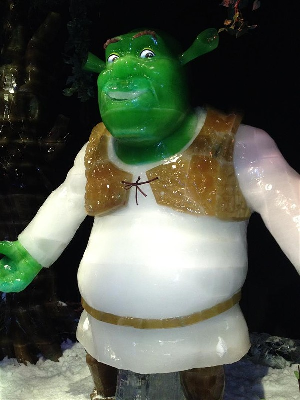 Shrek ice sculpture at Gaylord Palms' ICE!