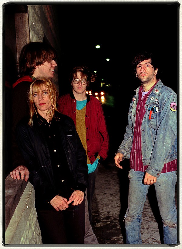 Sonic Youth in front of the Einstein-A-Go-Go, Jacksonville Beach, 1986 - JIM LEATHERMAN
