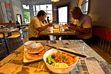 JASON GREENE - Stall tactics - Small plates of the Chinese, Vietnamese, Indian and Malaysian street-food variety, without the accompanying auto exhaust