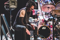 Terry Bozzio at the Plaza Live (photo by James Dechert)