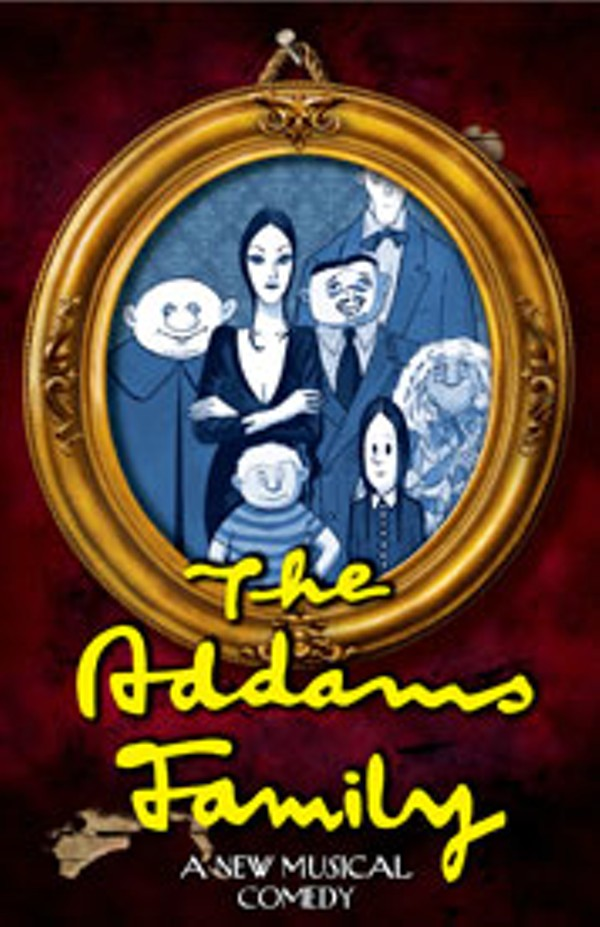The Addams Family onstage at the Bob Carr