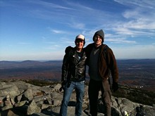 The author and his friend at the peak of New Hampshire's Mt. Monadnock, thanks to an adventurous CouchSurfing host in Boston.