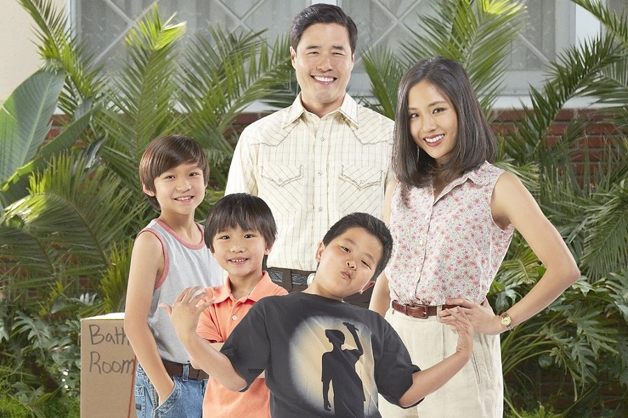 "The cast of ""Fresh off the Boat,"" the first network sitcom based on an Asian-American family since 1994's ""All-American Girl,"" starring Margaret Cho - VIA ABC TV"