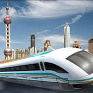 The new levitating magnet train kicks construction into next gear