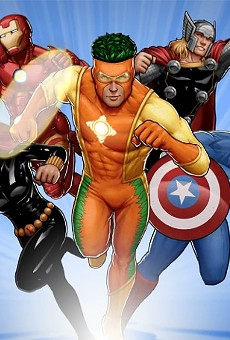 The old Captain Citrus was a chubby orange.