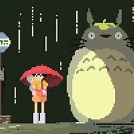 This week's fan art sees Studio Ghibli reduced to 8 bits