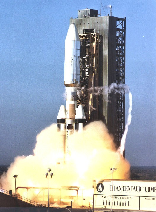 Titan IIIE 23E-6/Centaur D-1T E-6 launches Voyager 1 from LC-41 at Cape Canaveral Air Force Station, 5 September 1977 - VIA WIKIPEDIA