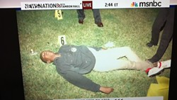 Trayvon Martin, after his encounter with George Zimmerman. (From Gawker.)