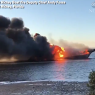 Florida casino cruise goes up in flames, leaving one dead
