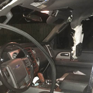 A Longwood resident's car was completely gutted by a bear