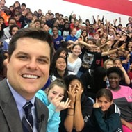 Here's a kid flipping off Florida Rep. Matt Gaetz
