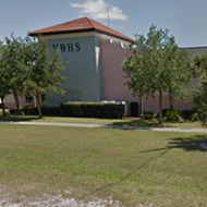 A Florida deputy accidentally shot himself in the hand at a high school this morning