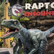 Blue, the raptor from 'Jurassic World,' is now at Universal Orlando