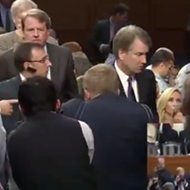 Here's Brett Kavanaugh refusing to shake hands with a Parkland victim's father