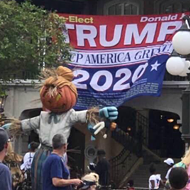 Someone hung a 'Re-Elect Trump' banner in Disney's Magic Kingdom last weekend